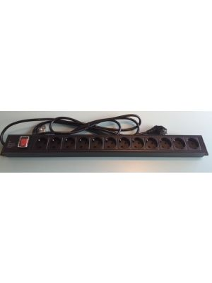 Vertical 12 Way Rack Mount Power Distribution Unit 1.8m - EU SOCKET PDU