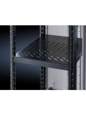 Rittal Component shelf, 1U Adjustable shelf 400 - 600 Black - 100kg