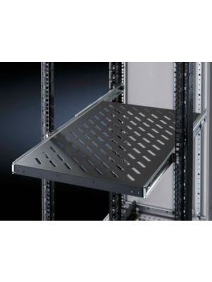 Rittal Component shelf, 1U Adjustable shelf 650 - 950 - Black - 80kg - pull-out
